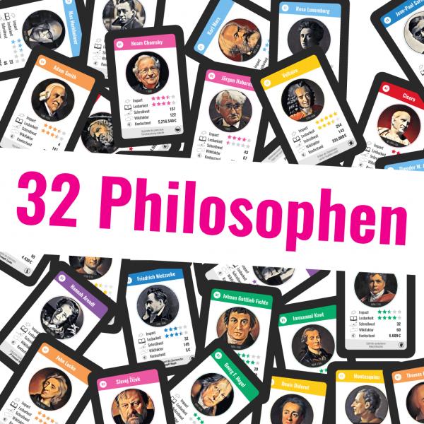 Kartenspiel: Philosophen-Quartett