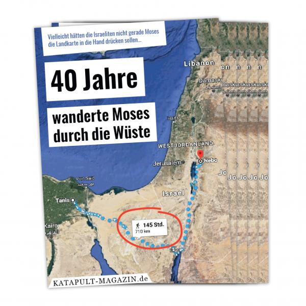 5 Postkarten: Moses' Wanderung
