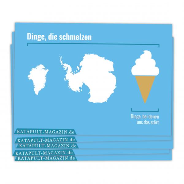 5 Postkarten: Dinge die schmelzen