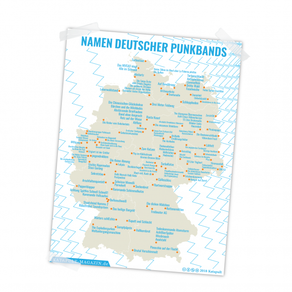 Poster: Namen deutscher Punkbands (A1)