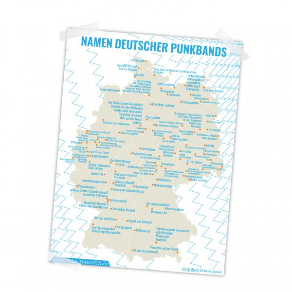 Poster: Namen deutscher Punkbands (A1)