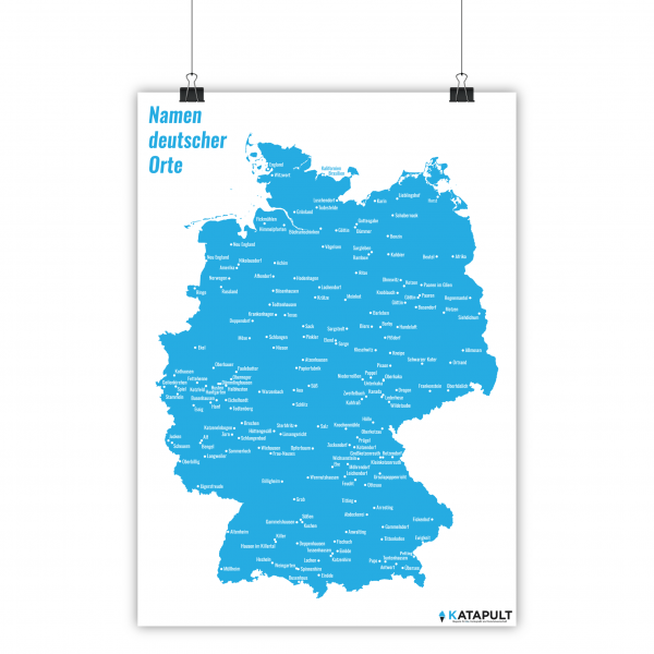 Poster: Namen deutscher Orte (A2)